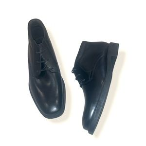Men's Geox Black Leather Lace Up Shoes size 40